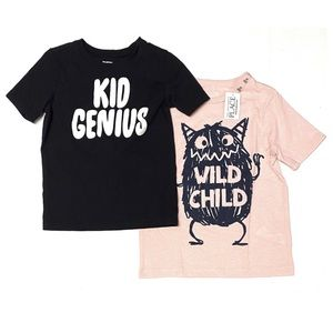 OshKosh Graphic Tee Bundle Wild Child Genius 4T